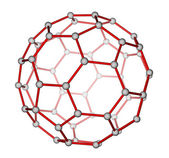 Fullerene C60 molecular structure — Stock Photo