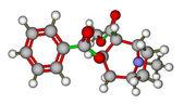 Molecule of cocaine — Stock Photo