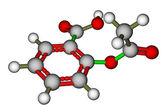 Aspirin molecular structure — Stock Photo
