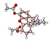 Heroin molecule — Stock Photo