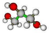 молекулярная структура глицерина — Стоковое фото