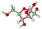 Fructose molecular structure — Stock Photo