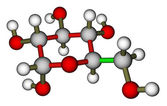 Glucose (α-D-glucopyranose) molecular structure — Stock Photo