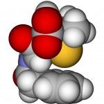 Penicillin G space filling molecular model — Stock Photo