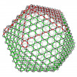 Nanocluster fullerene C720 molecular structure - Foto Stock