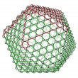 Nanocluster fullerene C720 molecular structure - Stock Photo