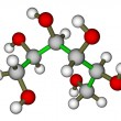 Sorbitol molecular structure — Stock Photo