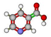 Niacin (vitamin B3 or PP) molecule — Zdjęcie stockowe