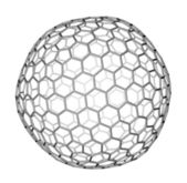 Nanocluster fullerene C540 molecular model — Stock Photo