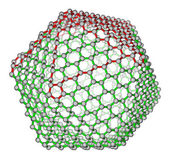 Nanocluster fullerene C720 molecular structure — Stock Photo
