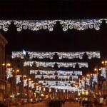 The main street of Kyiv at Christmas — Stock Photo