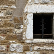 Old wall window - Stock Photo