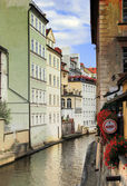 Small river in Prague — Stok fotoğraf