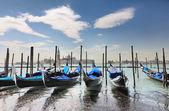 Blue Gondolas — Stock Photo
