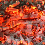 Burning coal — Stock Photo