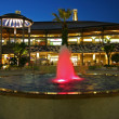Stock Photo: Architectural view of outdoor mall with fountain