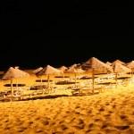 Sun shades at night — Stock Photo