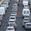 Stock Photo: Traffic lanes at rush hour