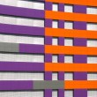 Purple and orange building — Stock Photo