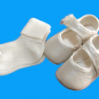 Stock Photo: Baptism shoes and socks
