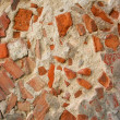 Decaying wall made of concrete and brick — Lizenzfreies Foto