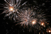 Celebration sparkling fireworks explosion — Stock Photo