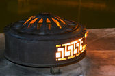 Fire in a pot — Stock Photo