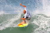 Surfer riding a wave — Stock Photo