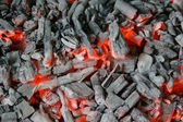Pile of wood ashes — Stock Photo