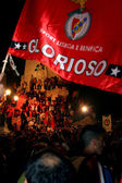 Benfica party in Lisbon — Stock Photo