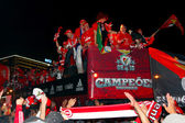Benfica Players' Bus — Stock Photo