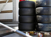 Pile of tyres — Stock Photo