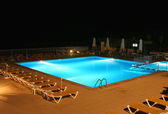 Pool view at night — Stock Photo