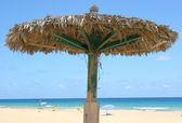 Sun shade on a beach — Stock Photo