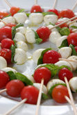 Cheese and tomato appetizer — Foto de Stock