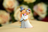 Wedding cake dolls closeup — Stock Photo