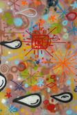 Grafitti color image - vertical — Stock Photo
