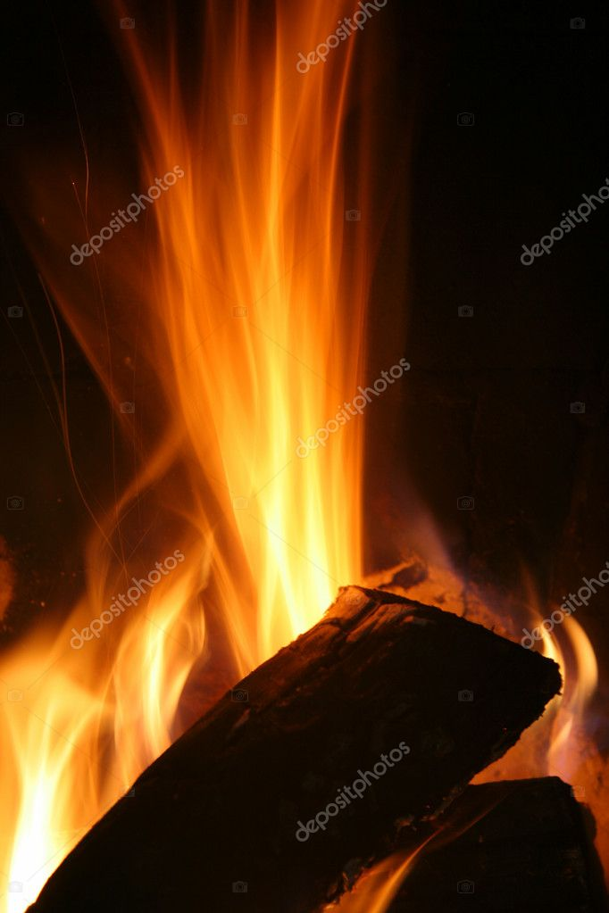 High wood fire long exposure — Stock Photo #12051803