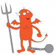 Stock Vector: Chained devil