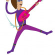 Stock Vector: Jumping rocker