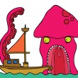 Vector de stock : Giant Octopus