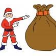 Santa Claus & a big sack — Stock Vector #12194380
