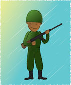 Soldier — Stock Vector
