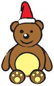 Christmas teddy bear — Stock Vector
