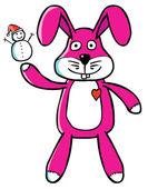 Marionnette lapin bon — Vecteur