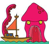 Giant Octopus — Stock Vector