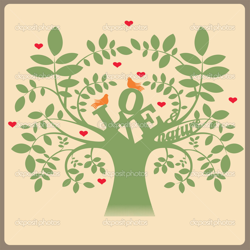 Birds in love. Vector illustration — Stock Vector #12214143