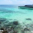 Foto Stock: Clear water, pp island, seascape