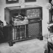 Philco Radio phonograph — ストック写真 #12287578
