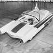 Futuristic Car, circa late 1950s-early 1960s — Stock Photo